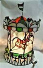 Tiffany Style Stained Glass Carousel Horse Electric Tabletop Lamp