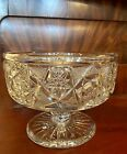 Scarce Footed Center Bowl Or Ferner American Brilliant Period Cut Glass