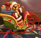 SAMPLE Jim Shore Boyds  Bears Jolly St Nick Bearing Gifts Santa sleigh 4016477