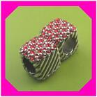 BRIGHTON ABC CUBIX Cube RED Crystal Silver Spacer BEAD Nwotag Set of 2 LOT
