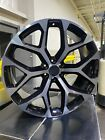 4 2015 GMC Sierra Wheels 26x10 Black  Machined Tint OE 26 Silverado Tahoe