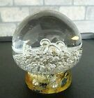 KOSTA SWEDEN Signed G Warff MUSHROOM Bubble Footed Paperweight 97322 Glass