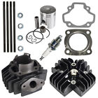50cc Engine Piston Cylinder Head Top End Kit for Yamaha PW50 QT50 Towny