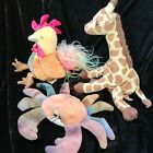 Ty beanie babies Lot Of 3 Claude. Jumpshot, Rooster
