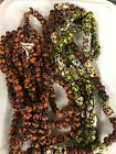 Vintage Glass Black and Orange and Yellow Multicolor Beads Lot of 390 Beads