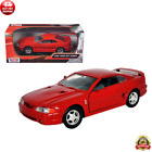 1998 Ford Mustang SVT Cobra Red 1 24 Diecast Model Car Rubber Tires by Motormax