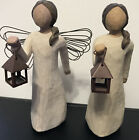 Retired 2 Willow Tree Angels of Hopewith Lantern Figurine Collectible 2000