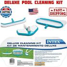 Intex Deluxe Pool Cleaning Kit Leaf Skimmer Curved Wall Brush and Vacuum Head
