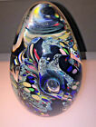 LARGE SIGNED ROLLIN KARG DICHROIC DYNAMIC GLASS Paperweight Sculpture 5