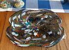 Beautiful Vintage Art Glass Murano Bowl Multi Color Murano