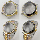 Two Tone Gold Coated 40mm Watch Case For NH35 NH36 MIYOTA 8215 Sapphire Glass