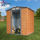5 X 6 Utility Outdoor Garden Storage Steel Shed Tool House Sliding Door