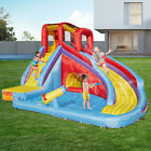 Water Spray Inflatable Bounce House Kids Jumper Castle Slide with Blower Safety