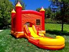 Commercial Inflatable Bounce House Volcano Wet Dry Slide 100 PVC Pool  Blower
