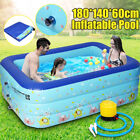 Inflatable Swimming Pool Family Kids Children Home Outdoor Above Ground Fun USA