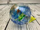 Kitras Art Glass Decorative Spirit Ball 6 Inch Light Blue