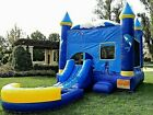 Commercial Inflatable Bounce House Dolphin Wet Dry Slide 100 PVC Pool  Blower