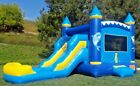 Commercial Inflatable Combo Bounce House Dolphin Slide PVC Pool 15HP Blower