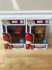 Funko Pop Marvel Daredevil Red And Yellow Suit Set Underground Toys Exclusive