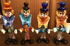 4 Murano Venetian Glass Clowns 9 Made in Italy Mint Free Fast Shipping
