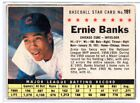 1961 Post Cereal # 191 Ernie Banks - VG - Cubs SMALL WRINKLE VINTAGE 1960S