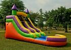 Commercial Grade PVC Vinyl Inflatable Water Slide 12ft Orange with 1HP Blower