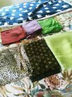 Lot of 6 Pieces of Fabric Remnants ChiffonOrganza Two Tone Fabric 7yrds Total