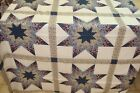 One Quilt Top Cheater Fabric Calico Lone Star Last Navy Blue Cotton 90 w x 106