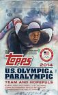 2014 TOPPS U.S. OLYMPIC & PARALYMPIC SEALED HOBBY BOX (3 AUTO RELIC PER B0X)