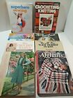 How to Crochet Knit and Sew Books and Patterns Assorted Lot of 8 Teach Kids