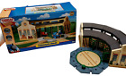 2011 Thomas  Friends Wooden Railway Tidmouth Sheds Turntable 5 Way with Box