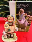 Hummel Figurine JUST FOR YOU 2309/A CARD 4 MOM Girl Cat Flower NEW IN BOX Mint
