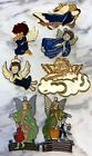 NEW Resin Stained Glass Style Vintage ANGELS Suncatchers Lot of 7 Brass Frame