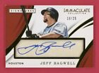 Jeff Bagwell Autograph 25 2018 Panini Immaculate Collection Signatures Auto