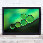 Black Spot Green Abstract Graphic Bubble Bubbles Oil Water Soft Ring Art Print
