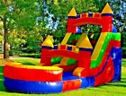 Commercial Grade PVC Vinyl Inflatable Water Slide 12ft Rainbow WITHOUT Blower