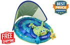 Inflatable Baby Spring Octopus Pool Float Activity Center with Canopy