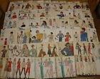 48 vintage all Vogue Sewing Patterns lot mixed sizes  styles partially cut