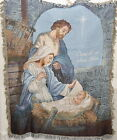 Come Let Us Adore Him Woven Tapestry Nativity Throw Blanket 50x60 Michael Adams