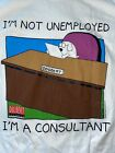 Vintage Dilbert LARGE T Shirt 90s Unemployed Consultant Dogbert Comic Strip