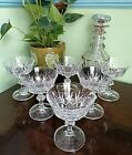 GORGEOUS SET of 6 GLASS CHAMPAGNE COUPES COCKTAIL GLASSES 13 cm TALL