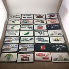 VTG Lot 28 Embroidered Cloth Sew On Patch Multi Color Employee Badge Farms Truck