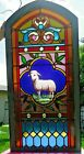 American Victorian Stained  Jeweled Glass Window