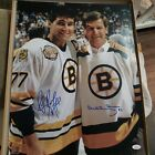 Bobby orr Ray Bourque Boston Bruins Signed Autographed Photo 16x20 jsa GNR CERT