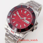 40mm Bliger red dial sapphire glass luminous japan nh36a automatic mens watch