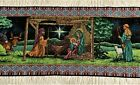 First Christmas NATIVITY table runner 72 x 13 tapestry weave MWW