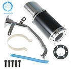 Short Performance Exhaust Muffler System Assembly For GY6 150cc Scooter Black