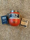 YETI Canyon Red 10 oz Rambler Wine Tumbler Retired Rare Sold Out