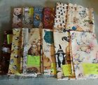 Lot of Various Cat Themed Fabric 100 Cotton 6 yards Quilting Crafts