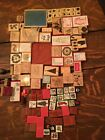 Lot of 100+ Mixed Stampin Up Wood Mount Rubber Stamps and othe stamps
